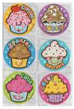 "20 Cute Cupcake Scented Stickers, 2.5""x2.5"" ea., Party Favors"