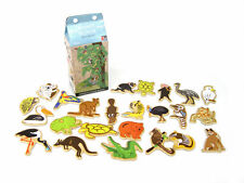 24pcs Children's Wooden Australian Animal Magnets in Milk Carton!