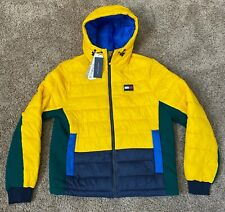 NEW Tommy Hilfiger Mens NWT YELLOW BLUE GREEN PUFFER...
