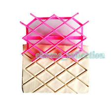 Diamond Rhombus Stampo Imbottitura Quilted Cake Fondant Cutter Embossing Mold