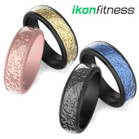 Men Women's Silicone Wedding Ring Rubber Bands Sculptured Flower Flexible Rings