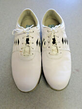 """Footjoy """"Summer Series"""" white and black leather golf shoes, Women's 9 M"""