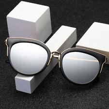 LE Unisex Korean Fashion Cat Eye Sunglasses Mirror Coating Driving Glasses Brand
