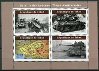 Chad Military Stamps 2019 CTO WWII WW2 Battle of Bulge Ardennes Tanks 4v M/S II