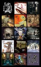 "KORN album discography magnet (3.5"" x 5"") deftones soad marilyn manson slipknot"