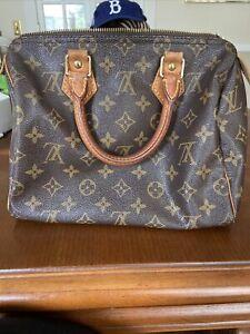 Louis Vuitton Handbag Authentic Vintage SP0994 10x8 Some Wear & Tear Brkn Zipper