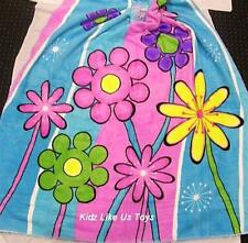 ~ Dot Flowers - GIRLS COLOURFUL PRETTY MICROFIBRE THROW / BLANKET