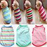 Pet Spring Summer Stripe Dog Vest Puppy Cotton Coat T Shirt Cat Clothes Apparel