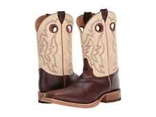 Justin Bent Rail Men's Caddo Cognac Damiana Wide Square Toe Western Boot BR776