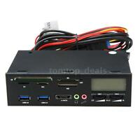 """5.25"""" inch USB 3.0 PC Media Dashboard Multi-function Front Panel Card Reader I/O"""