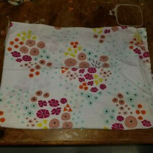 """Land of Nod """"Multi Flower"""" Toddler Flat Sheet"""