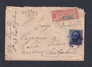 USA 1891 15C BUREAU ON REGISTERED COVER BUTTE MONTANA TO TICINO SWITZERLAND