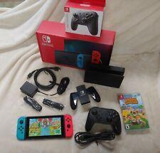 Nintendo Switch V2 bundle + Pro Controller & Animal Crossing - free shipping!