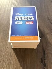 Sainsbury/'s HEROES Cards and Books FREE P/&P BEST BUY 500 Cards 2 Albums