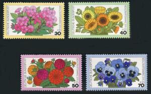 Germany: 1976 Flowers Semipostals (B533-B536) MNH