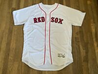 #67 Team Issued Boston Red Sox White Home Jersey MLB Authenticated