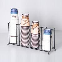 Countertop Disposable Paper Foam Water Coffee Cup Lid Holder Dispenser Rack