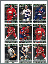1993-94 OPC Premier BlackGold  Press Proof Panel of 9, Yzerman, Sakic, Fleury..