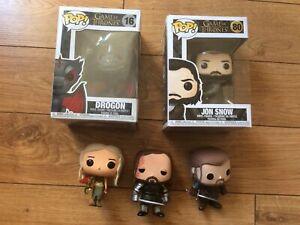 funko pop game of thrones the hound 05 Rare Vaulted Loose Lot Drogon Jon Snow