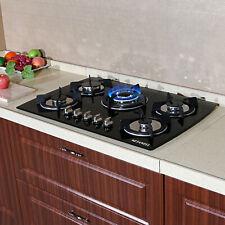 "30"" Built-in 5 Burner Gas Hob LPG/NG Cooktops Glass Kitchen Cook Stoves USA"