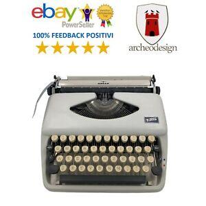 antica macchina da scrivere portatile vintage Triumph Tippa Adler epoca anni 60