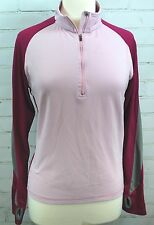 Moving Comfort 1/4 Zip Athletic/Fitness/Yoga Pullover Long-Sleeve Shirt Jacket