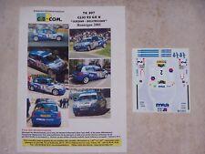 """DECALS C.B.COM. 1/43ème CLIO RS GR N """"JORDAN-DELEBECQUE"""" Rouergue 2001"""