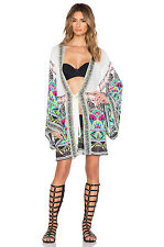 IDAHO AZTEC GEOMETRIC PRINT BOHO HOLIDAY KIMONO KAFTAN IBIZA SUMMER BEACH COVER