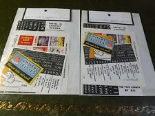 2 Packets of OO/HO Miniature Posters & Signs 50 in Each Identical Pack Train Set