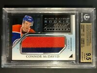 2015-16 Connor McDavid Black Diamond Rookie Material Placards /299 BGS 9.5