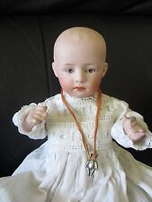 ANTIQUE BEAUTIFUL GERMAN BISQUE HEAD POUTY CHARACTER BABY BOY DOLL
