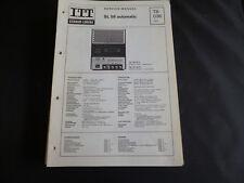 Original Service Manual ITT Schaub Lorenz SL58 automatic