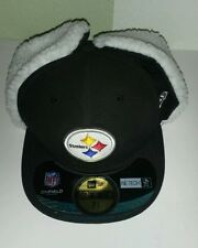 New Era 59fifty NFL cold weather ear flap fleece STEELERS cap