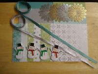 Stampin Up! ALL IS CALM Card Kit 6 x 6 Designer Paper Ribbon CHRISTMAS Rare