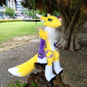 19.5'' Anime Digimon Renamon Plush Toy Digital Monster Stuffed Doll Pillow Gift