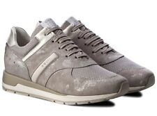 GEOX SHAHIRA D72N1A scarpe donna sneakers pelle camoscio tessuto casual zeppa