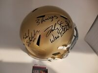 3 Amigos Notre Dame Signed Autographed Full Size Helmet Fighting Irish 88 Champs