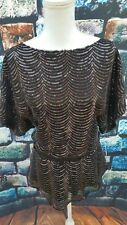 New Women's Sequin Batwing Evening Top By MM Couture Size Small
