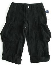 Ralph Lauren Girls Black Cropped Cargo Pants (6) NWT