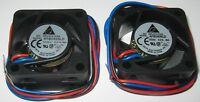2 x Delta 40 mm - 5 V Fan - 5000 RPM - Delta AFB0405LD - 5V DC - 5.6 CFM - 25 dB