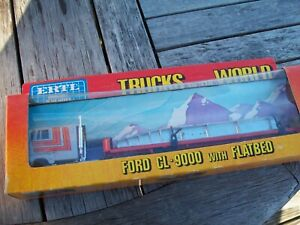 """ERTL #1455 """"TRUCKS OF THE WORLD"""", FORD CL-9000 TRUCK & FLATBED, GC"""
