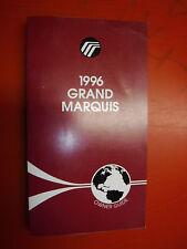 1996 MERCURY GRAN MARQUIS FACTORY OWNERS MANUAL OPERATORS GUIDE BOOK