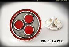 PAX PAZ SILVER PLATA 925 STERLING PAZ PIN COSMICA  PAX COSMICA UNIVERSO