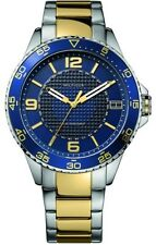 New Tommy Hilfiger Men Steel Two Tone Retrograde Date Watch 47mm 1790839 $165