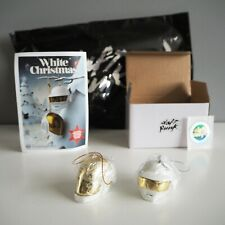 Daft Punk Christmas Ornament Full Set White Gold