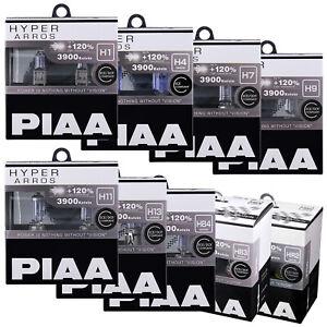 PIAA Hyper Arros Car Bulbs H1 H3 H4 H7 H8 H9 H11 H13 HB3 HB4 HIR2 Fittings