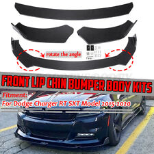 Carbon Fiber Front Bumper Lip Spoiler Lower Splitters For Dodge Charger 2015-20