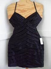 New Womens Black Satin Criss-Cross Strapy Cocktail Dress Sz.M By Twenty One