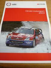 Citroen Motorsport 2004 folleto de auto Jm