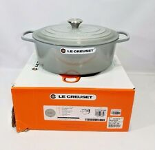 Le Creuset Cast Iron Oval Dutch Oven Mist Gray 6.75 Quart 6 3/4 w/ Lid NEW NIB